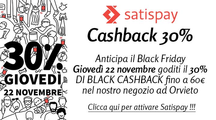 Satispay Black CashBack 30%